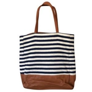 Street Level Striped Travel Tote